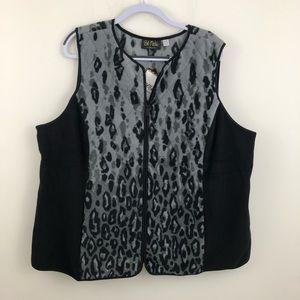 Bob Mackie fleece vest